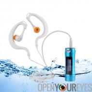 Lecteur MP3 - Radio FM, batterie longue durée, IPX8 imperméable à l'eau, OLED Display, 8 Go de mémoire, casque étanche imperméa