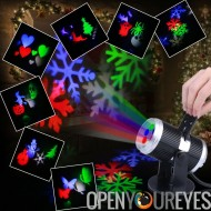 Projecteur LED Light - 4 x LED, Design tournante, couleur 4 LEDs, 12 motifs lumineux, effet rotatif automatique, taille de l'Im