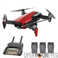 DJI Air Mavic caméra Combo - SmartCapture, Drone GPS/GLONASS, 21 minutes Max vol temps, caméra 4K, 3D pliable Design (rouge)
