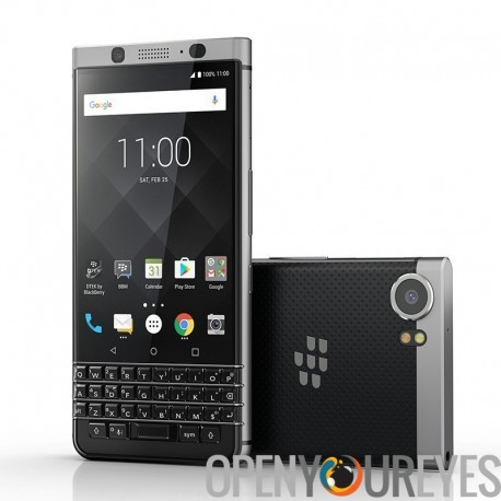 Téléphone blackBerry doussou - Android 7.0, clavier Qwerty, 4Go de RAM, sécurité Featuers, 4G, 3505mAh batterie (argent)