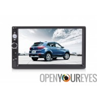 Voiture universel Media Player - 2 Din, 7 pouces écran tactile, FM / AM, Bluetooth