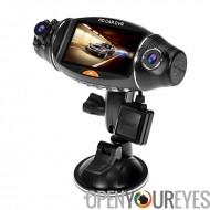 R310 Double objectif voiture DVR - enregistreur GPS, G-Sensor, Wide Angle Lens, Loop enregistrement, démarrage automatique, écr