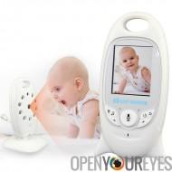Moniteur pour bébé sans fil - température Monitor, Vision nocturne, berceuses, écran 2,4 pouces, deux voies Audio