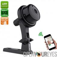 ESCAM Q6 WiFi caméra - vidéo HD 720p, 62 degrés objectif, capteur CMOS, IR-Cut, Night Vision, détection de mouvement, Support d