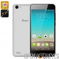 Gretel A7 Android Phone - 6.0 Android OS, verre Gorilla, 4,7 pouces écran, unité centrale de traitement MT6580, Dua