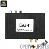 Digital TV Receiver Box - deux voies sous-titre vidéo, multi-Language Support, double antenne, Support du 1080p, large bande pa