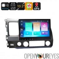 Honda 2 Din voiture lecteur multimédia - écran 10,2 pouces, 4 + 32 GB, 6.0 Android, GPS, WiFi, 3G soutien, CAN-BUS, Octa-Core C