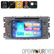 Ford 2 Din voiture lecteur DVD - écran de 7 pouces, 3G, 4G, Android 6.0, Octa-Core, 4 + 32 GB, Can-Bus, Bluetooth, GPS, Wi-Fi