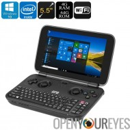 GPD Windows 10 Mini ordinateur portable - 5,5 pouces, Cherry Trail Z8750 CPU, Mini HDMI, Intel HD graphique, 4Go de RAM, bi-ban