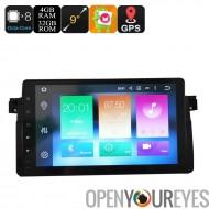 Un Din voiture Media Player pour BMW 3-9 pouces, Android 6.0, GPS, WiFi, 3G soutien, peut BUS, Octa-Core CPU, 4 Go de RAM