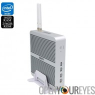 Hystou FMP03b Barebones Mini PC - processeur i3-7100U, 16 Go de RAM, 256 Go de mémoire, Windows 10, Wi-Fi, Windows 10