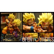 DRAGON BALL Z PROOVY STATUE PRÉ-PEINTÉE - SON GOKU ET SON GOHAN - VERSION KAMEHAMEHA
