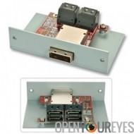 Adaptateur SATA 4 ports mini-SAS SFF-8088 (côté périphérique)