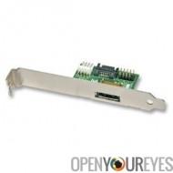ESATAp support adaptateur 5 V et 12 V