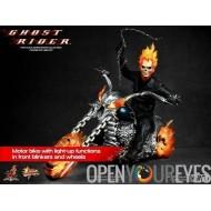 Figurine Ghost Rider avec la moto Hellcycle édition limitée échelle 1/6 de la collection