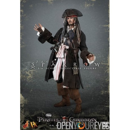 Action Figure Pirates of the Caribbean Captain Jack Sparrow scala 1 6  Dipinto a Mano 0559bc547ee