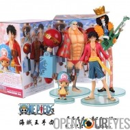 Figurines One Piece Set 4 pièces Brook Tony Chopper Franky Monkey D Lufy